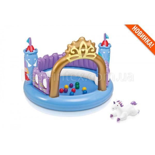 Intex 48669 (130-91 см.) Детский надувной игровой центр-замок
