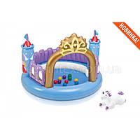 Intex 48669 (130-91 см.) Детский надувной игровой центр-замок, фото 1