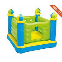 Intex 48257 (132-132-107 см.) Детский надувной игровой центр-батут Замок Castle Bouncer