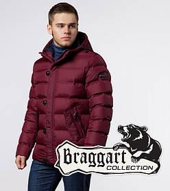 Зимняя мужская куртка на молнии Braggart 20180 красная