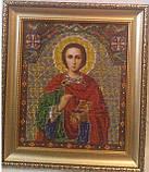 Икона Св.Целителя Пантелеймона (вышивка бисером) 25х28 см, 550, фото 2