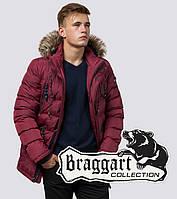 Мужская зимняя куртка с мехом Braggart 15335 бордовый