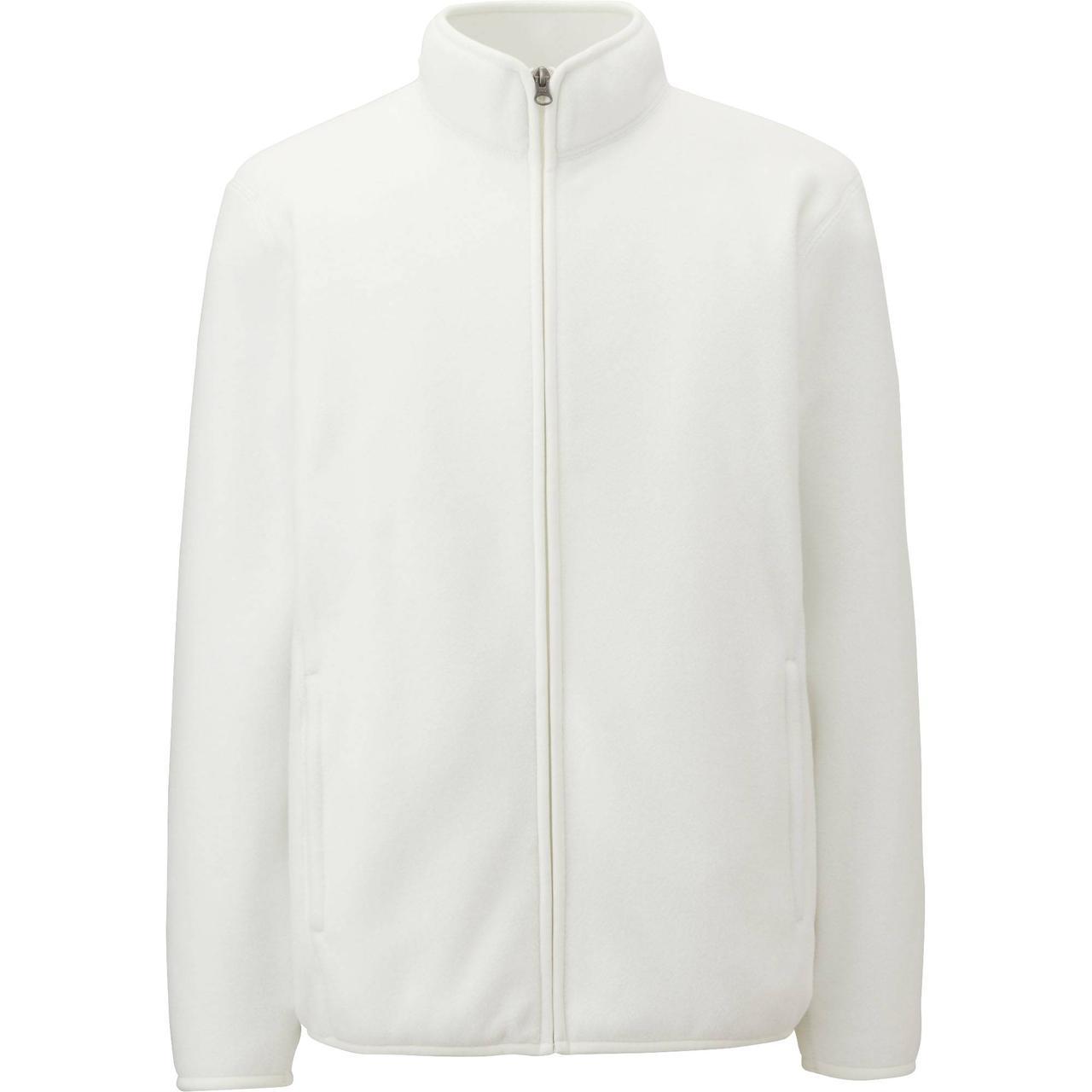 Кофта Uniqlo Men Fleece Full-Zip WHITE
