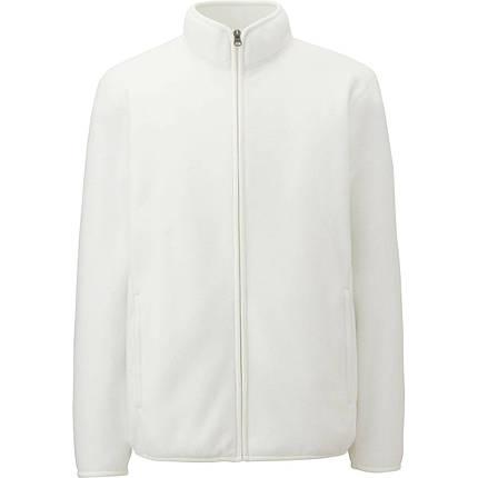 Кофта Uniqlo Men Fleece Full-Zip WHITE, фото 2