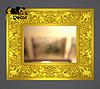 Зеркало настенное Sapporo в золотой раме, фото 2