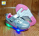 Кроссовки с разноцветными LED огоньками, р. 21,23, фото 3