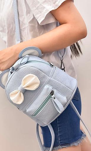 Рюкзак женский мини сумка с Ушками Уценка без бантика