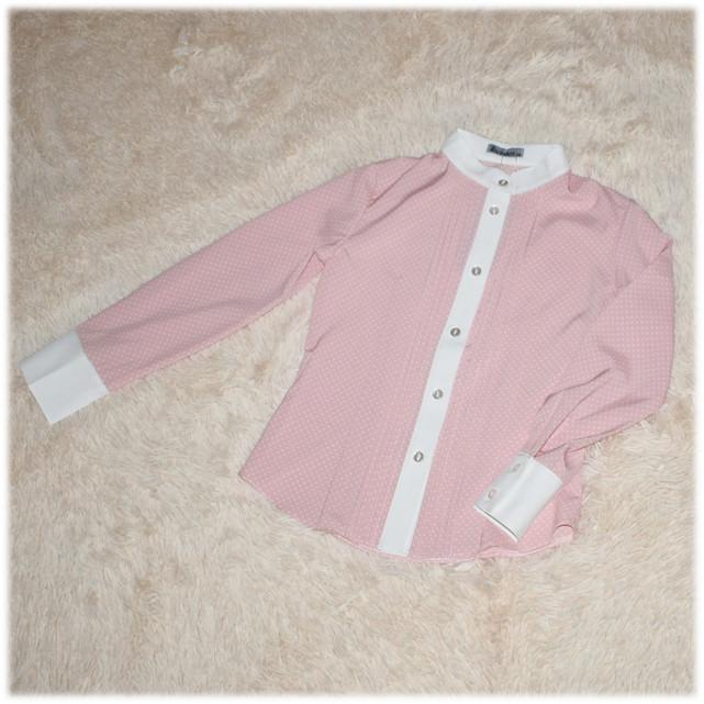 Блуза школьная с длинным рукавом пудровая для девочки Victoria ТМ Newpoint  146 152