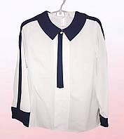 Блузка для девочек с контрастным воротником (1508/15)