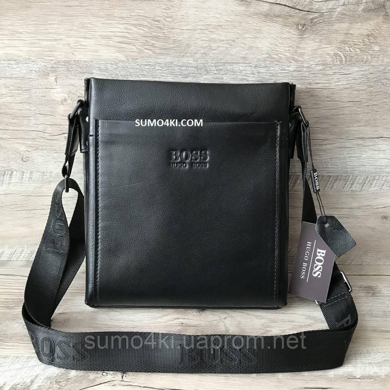 d138a6f4a71b Мужская кожаная сумка Hugo Boss - Интернет-магазин «Галерея Сумок» в Одессе