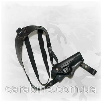 Кобура для ТТ, оперативная, кожа, возможность поясного ношения, код(004) плечевое ношение под мышкой