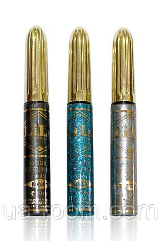Подводка для глаз жидкая цветная mix Lily, E601, фото 2