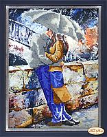 Набор для вышивки бисером Влюбленные под дождем НГ-059