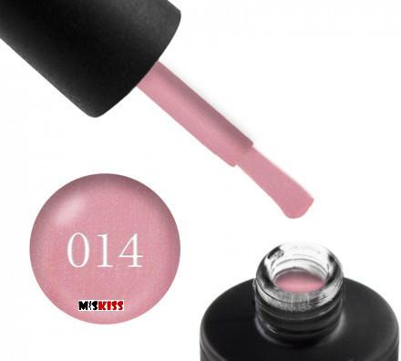 Гель лак Couture Colour 014 пастельно-рожевий з шиммером 9 мл