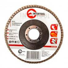 Диск шлифовальный лепестковый 125x22 мм зерно K40 INTERTOOL BT-0204