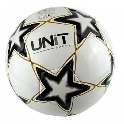 Мяч футбольный UNIT Shine (черно-белый), фото 2
