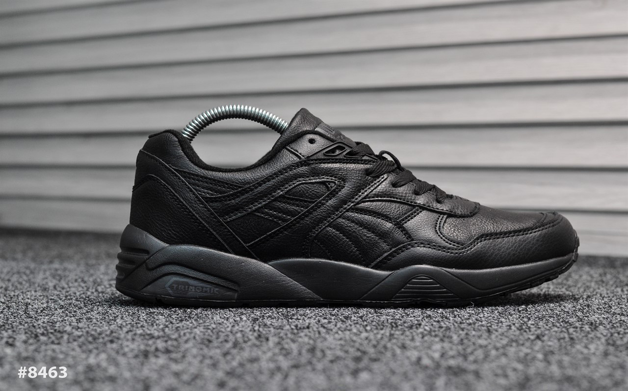 Puma Trinomic Triple Black Leather (Реплика)