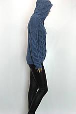 Жіноча тепла грубої вязки кофта з капюшоном, фото 3