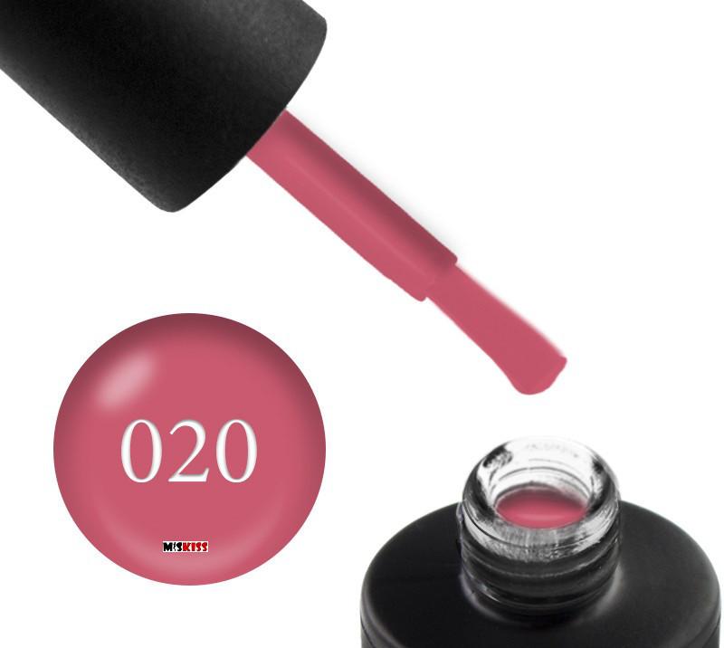 Копія Гель лак Couture Colour 020 світло малиновий мус 9 мл