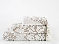 Полотенце махровое Irya Jakarli Vintage ekru молочный 50*90