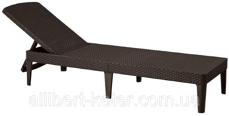 Шезлонг Jaipur Sun lounger темно-коричневий ( Keter )