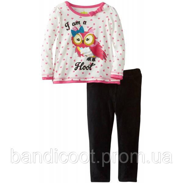 Набор кофта/реглан, леггинсы для девочки, размер 3Т.  Watch Me Grow! by Sesame Street