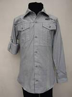 Рубашка для мальчиков 128,140,152,164 роста Оливка