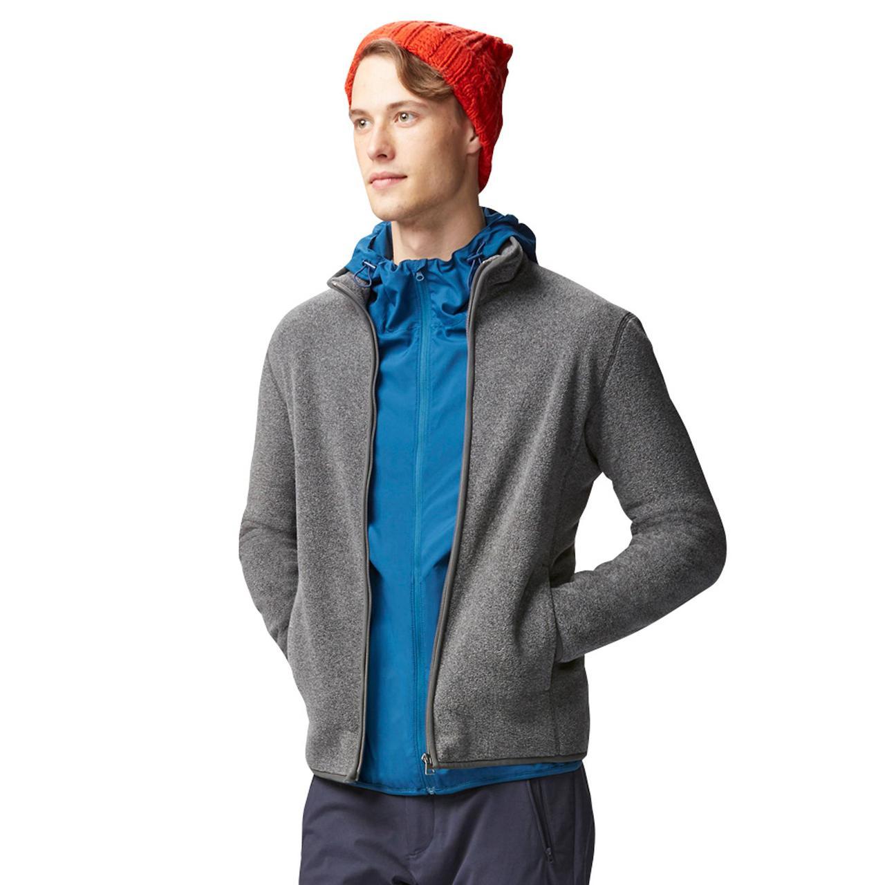 Кофта Uniqlo Men Fleece Full-Zip DK GREY