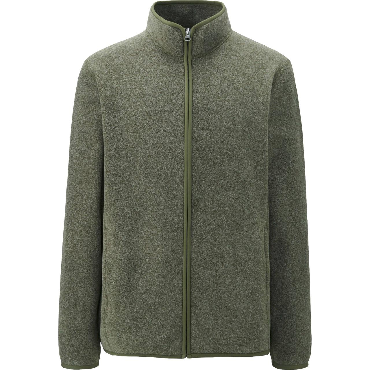 Кофта Uniqlo Men Fleece Full-Zip DK GREEN