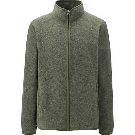 Кофта Uniqlo Men Fleece Full-Zip DK GREEN, фото 2