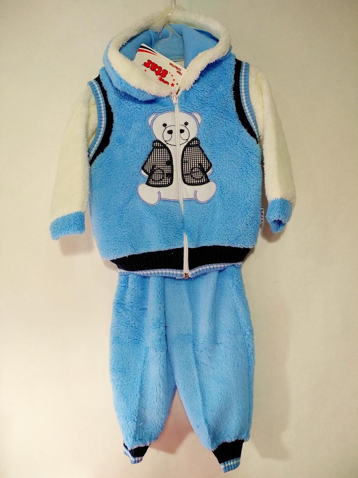 """Детский костюм Тройка """"Мишка"""" травка 421622"""