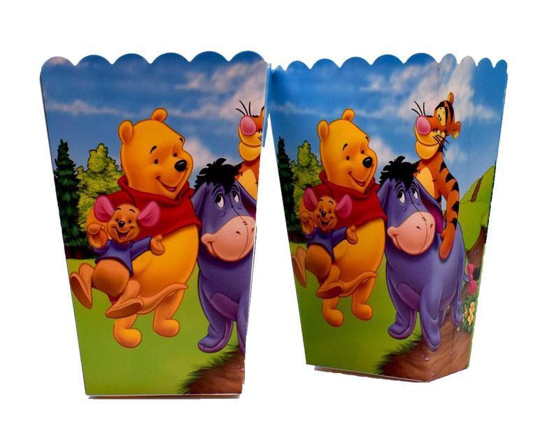 Коробки  для попкорна и сладостей Винни Пух 6 шт.