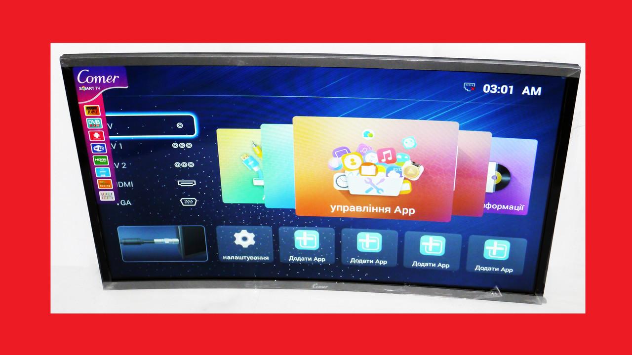 "LCD LED Телевизор Comer 32"" Изогнутый Smart TV, WiFi, 1Gb Ram, 4Gb Rom, T2, USB/SD, HDMI, VGA, Android 4.4"
