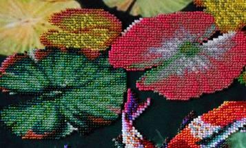 """Набор для вышивания бисером """"Кои на счастье"""", фото 3"""