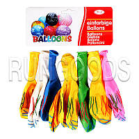 Воздушные шары с принтом Полоски 10 шт