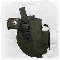 Универсальная кобура для пистолета, на пояс, зеленая, ткань Оксфорд (код 013), фото 1