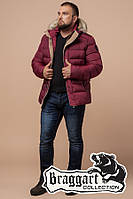 "Куртка мужская зимняя Braggart ""Dress Code"" бордовая, коллекция 2019 года"