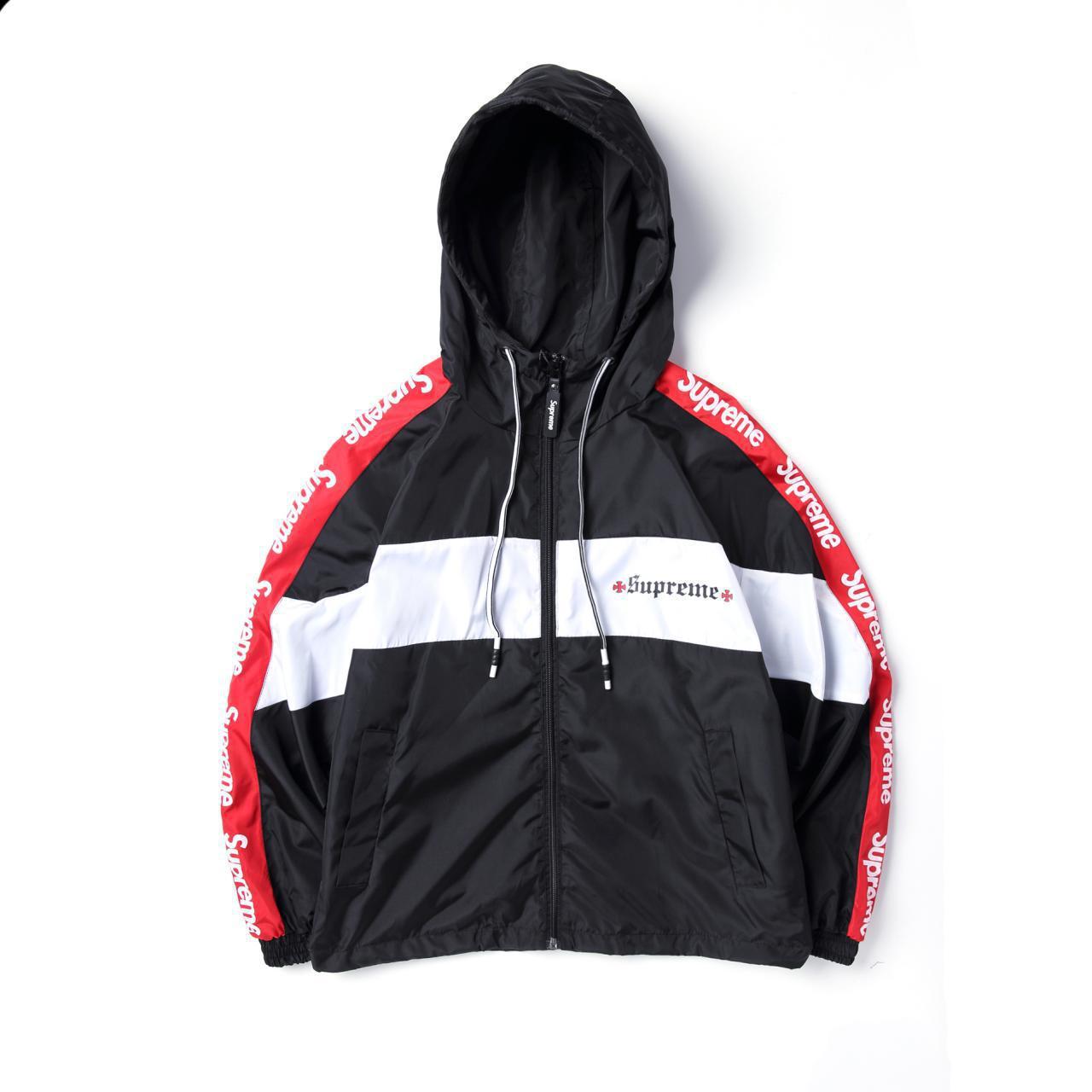 Ветровка Supreme Black White red унисекс - Компания