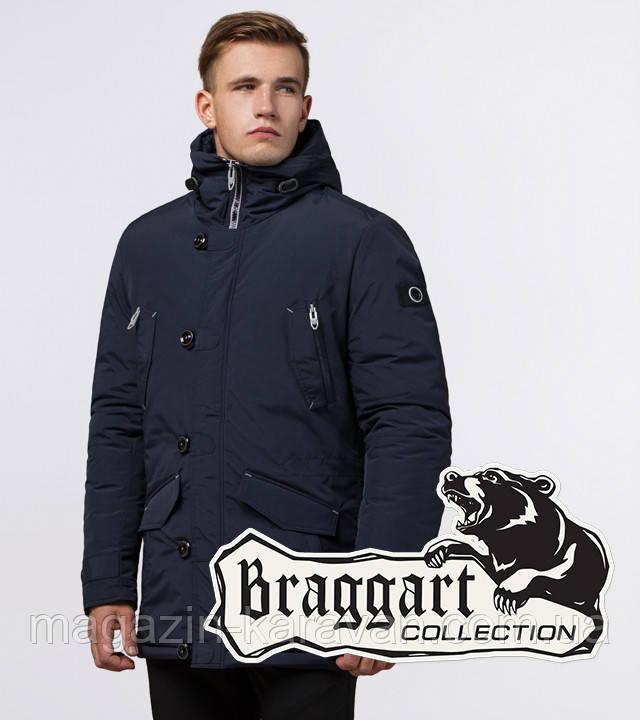 Мужская парка на зиму Braggart 44230 темно-синий