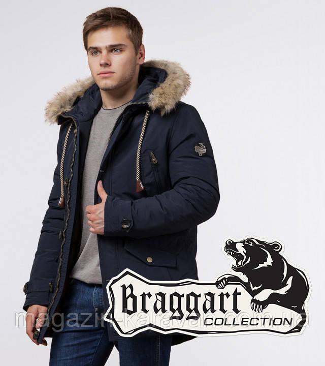 Парка мужская зимняя Braggart 38950 темно-синий