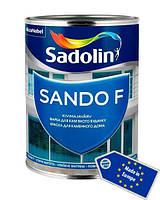 Краска для фасада и цоколя, SANDO F, белый BW, 1 л