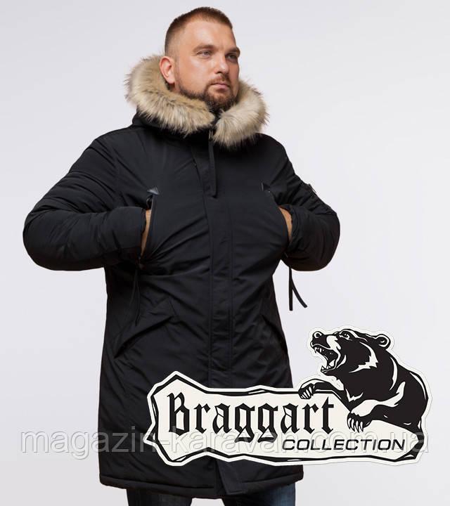 Зимняя парка со вшитым капюшоном Braggart 13475 черный