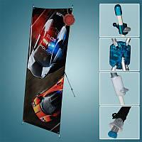 Банерный мобильный стенд Х баннер универсальный 80х180см/60х160 см