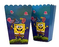 """Коробки  для попкорна """"Sponge Bob"""". В упак: 6 шт."""