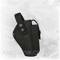 Кобура на пояс для Форт 12, с чехлом для магазина, черная, ткань Оксфорд (код 032), фото 1