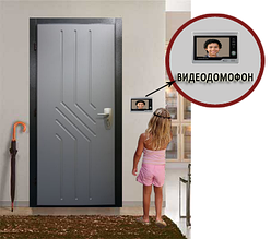 Видеодомофон WJ726RC8 (Memory Card) [5] Видеонаблюдение с трубкой домофон