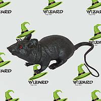 Резиновая Крыса (18см) черная