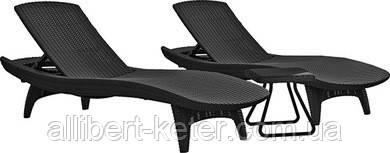 Комплект зі штучного ротангу PACIFIC SET + TABLE графіт (Keter)