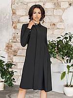 Черное Платье-рубашка Консетта, фото 1