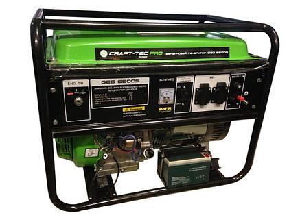 Бензиновый генератор Craft-tec GEG 6500S с электростартером, фото 2